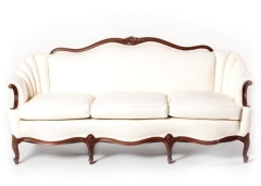 Rental store for Vintage Sofa in Cream Leather in Charleston SC