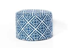 Rental store for Blue   White Patterned Ottomam  Pouf in Charleston SC