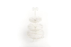 Rental store for 3 Tier Wire Serving Tray - Antique White in Charleston SC