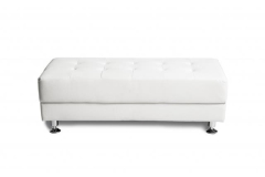 Rental store for LARGE WHITE OTTOMAN - 21 X 49 X 16.5 in Charleston SC