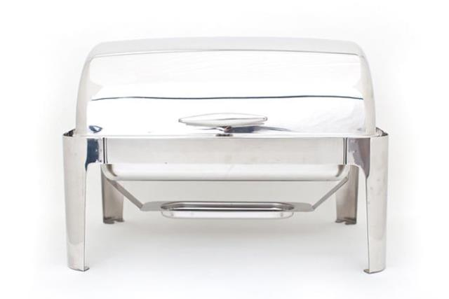 Where to find RECT ROLL TOP CHAFER - T-HANDLE, 8 QT in Charleston