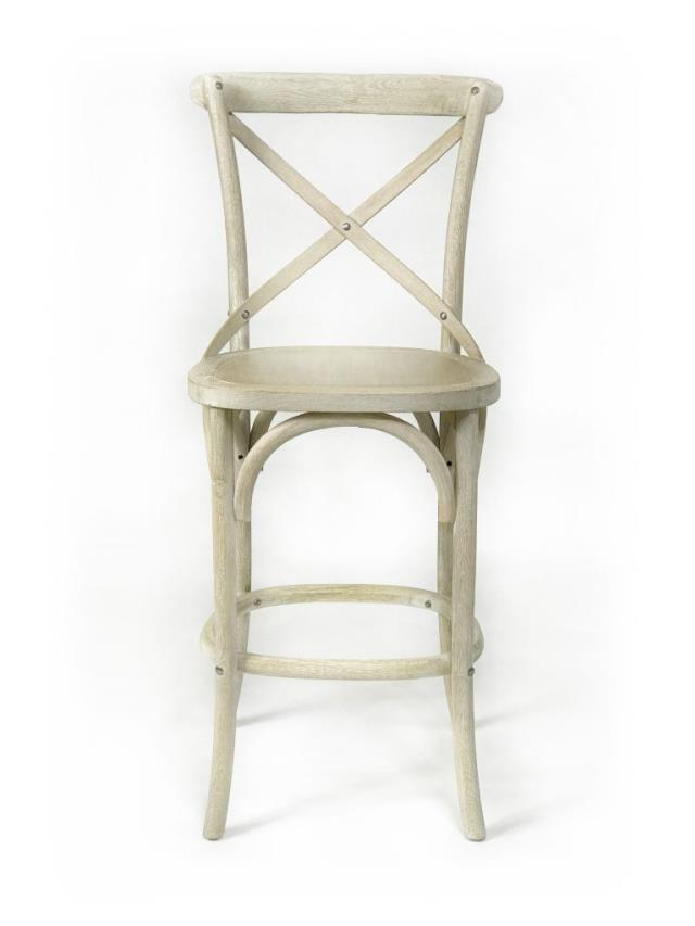 Where to find X-BACK  LIME WASHED PUB STOOL in Charleston