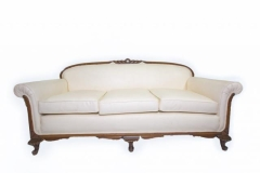 Rental store for ANTIQUE SOFA, CREAM LEATHER in Charleston SC