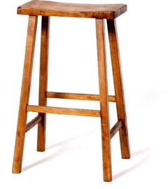 Rental store for Saddle Seat Barstool - Brown in Charleston SC