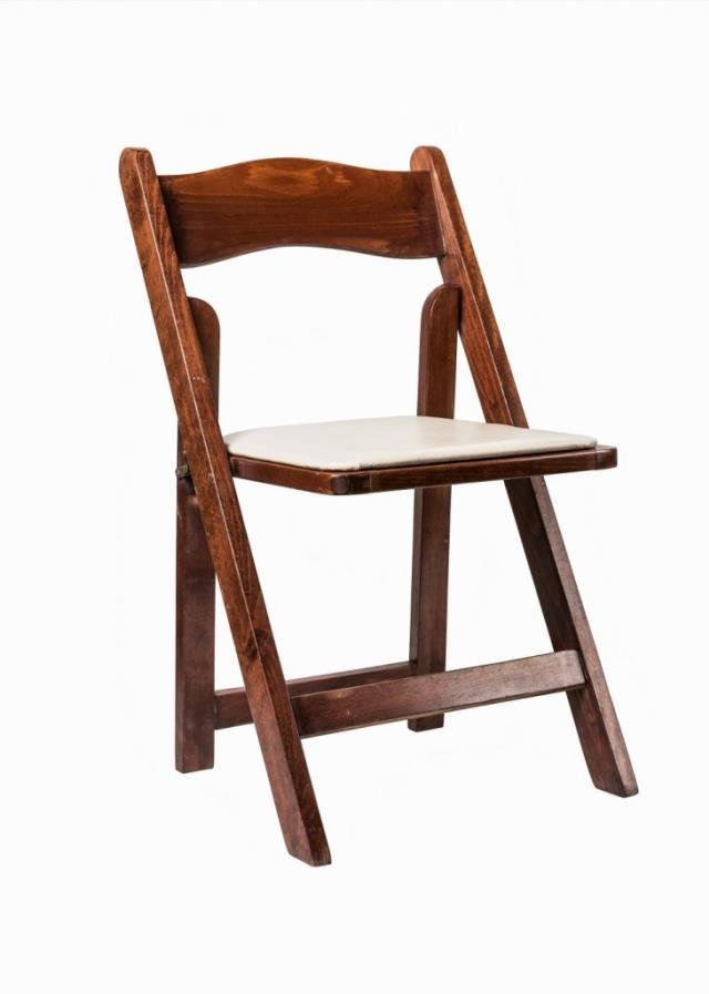 Where to find PADDED WOOD FOLDING CHAIR  MAHOGANY in Charleston