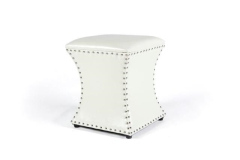 Rental store for SQUARE ONYX OTTOMAN, WHITE, 16X16 W X 18 H in Charleston SC