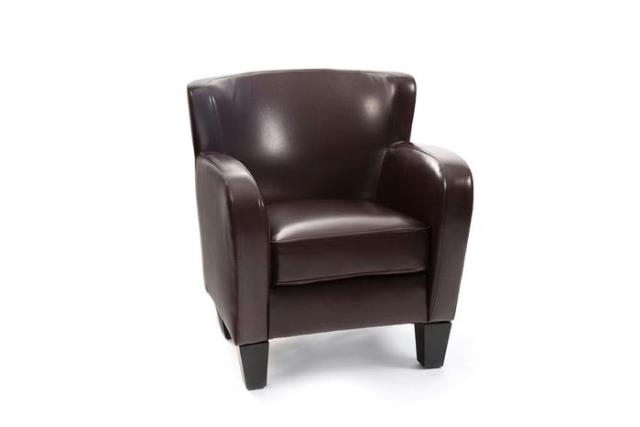 Where to find CHOCOLATE LEATHERETTE ARM CHAIR in Charleston