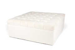 Rental store for BISCUIT TUFTED OTTOMAN, IVORY 48 X48 in Charleston SC